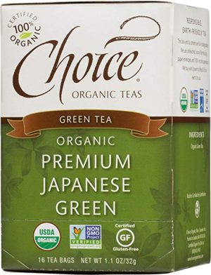 Choice Organic Teas Green Tea, Premium Japanese Green, 16 Count